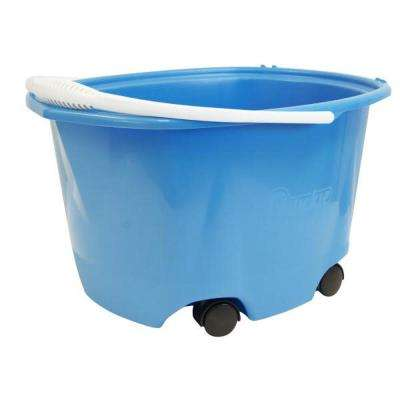 5 Gal. EZ-Glide Blue Plastic Bucket on Wheels (4-Pack)