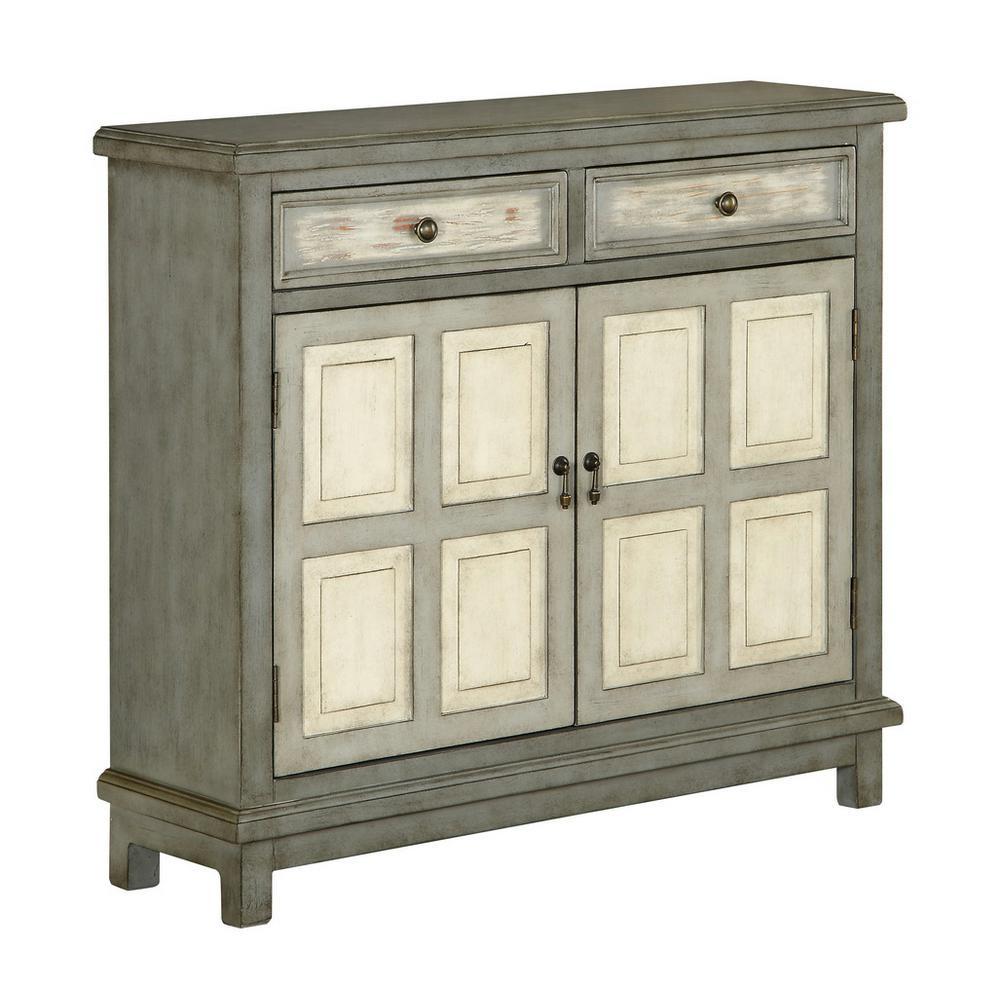 Homestead Grey 2-Drawer 2-Door Cupboard
