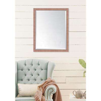 25 in. x 31 in. Framed Autumn Spice Mirror