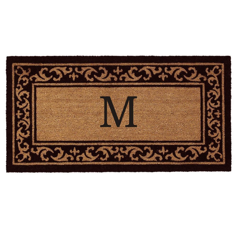 Kendall Monogram Door Mat 24 in. x 48 in. (Letter M)
