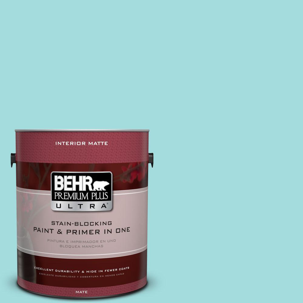 1 gal. #500A-3 Aqua Spray Flat/Matte Interior Paint