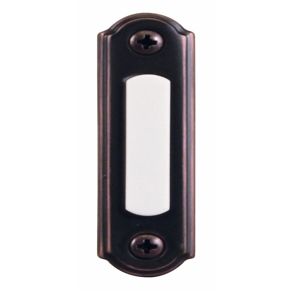 Wired Lighted Door Bell Push Button, Mediterranean Bronze