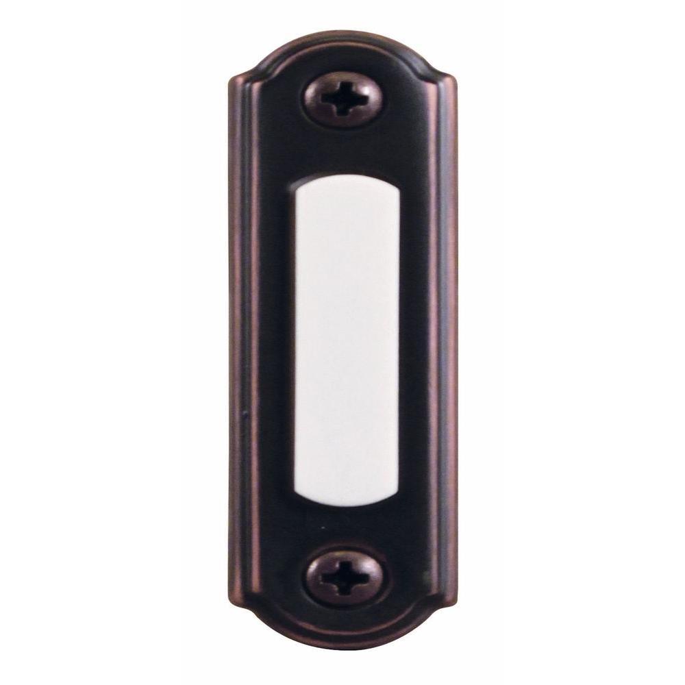 Wired Lighted Door Bell Push Button, Mediterranean Bronze