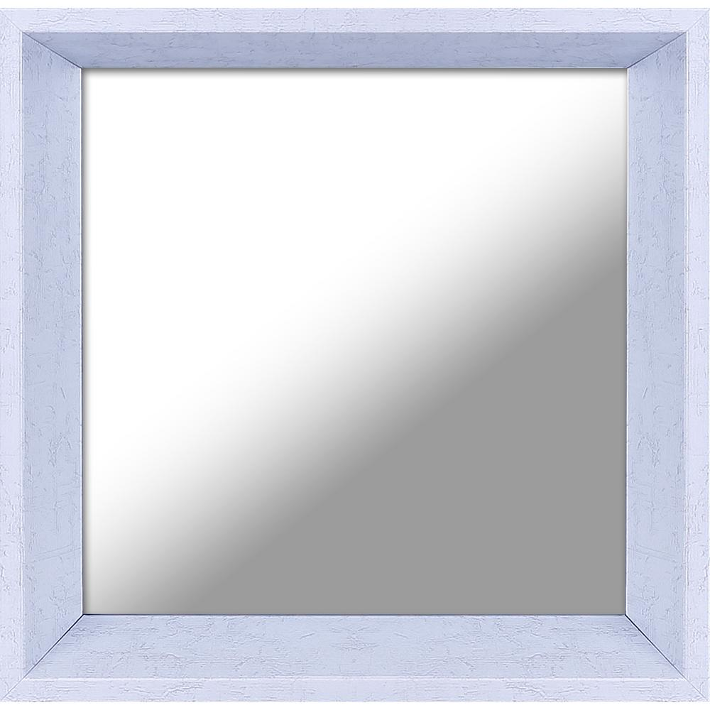 Plastic White Decorative Mirror Set Of 3