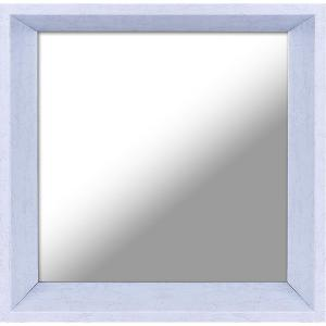 10.5 inch x 10.5 inch Plastic White Decorative Mirror (Set of 3) by