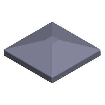 5.5 in. x 5.5 in. Aluminum Charcoal Pyramid Post Top
