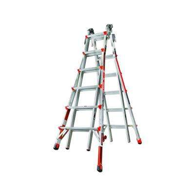 Revolution 26 ft. Aluminum Multi-Use Ladder with Ratcheting Levelers 300 lbs. Load Capacity Type IA