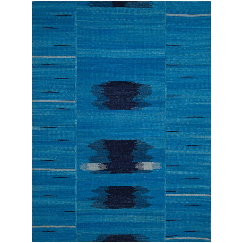 Kilim Blue/Purple 8 ft. x 10 ft. Area Rug
