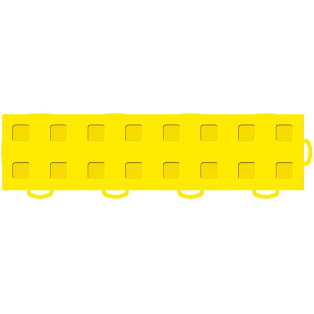 WeatherTech TechFloor 3 in. x 12 in. Yellow/Yellow Vinyl Flooring Tiles (Right Loop) (Quantity of 10)