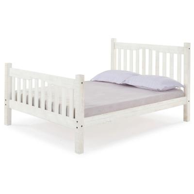 Rustic White Mission Full Bed