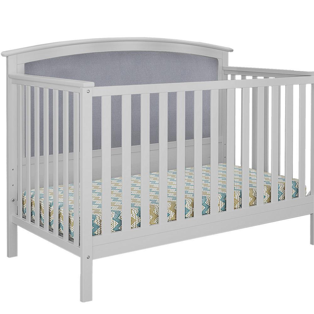 Bentley Gray Linen Upholstered Convertible Crib