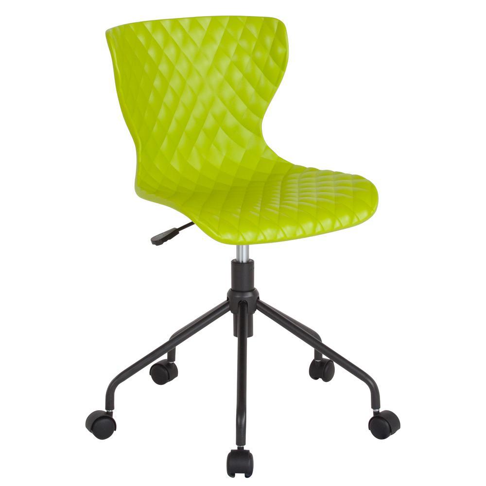 Flash Furniture Citrus Green Plastic Office/Desk Chair CGA-LF-232252-CI-HD