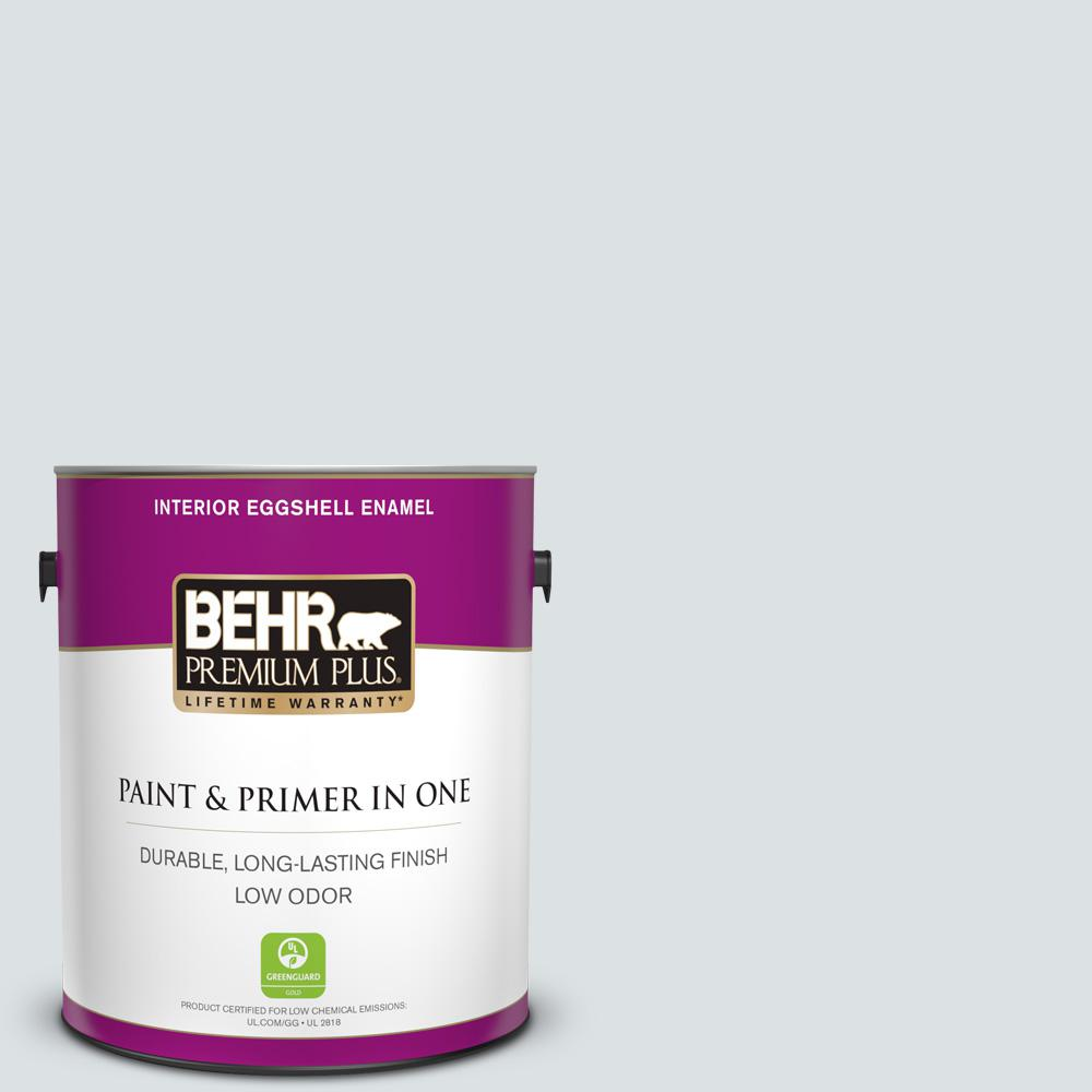 Behr Premium Plus 1 Gal Mq3 27 Etched Glass Eggshell Enamel Low Odor Interior Paint And Primer In One 205001 The Home Depot