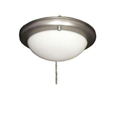 162 Low Profile Satin Steel Ceiling Fan Light