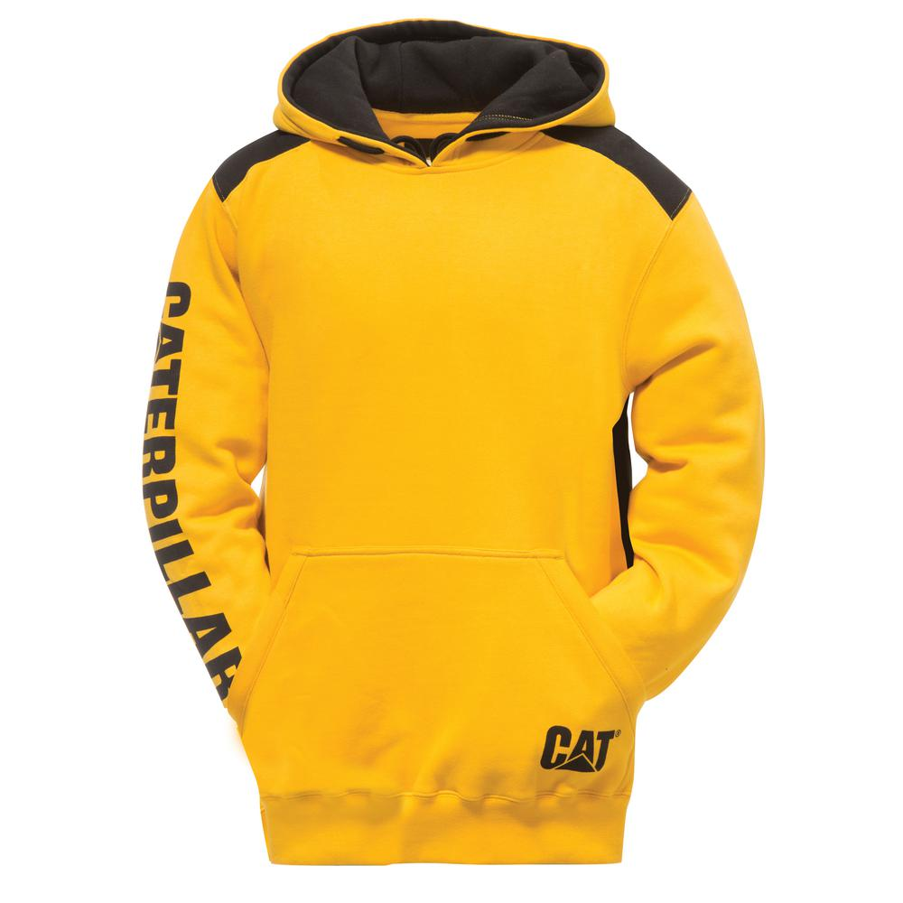 e245adf208 Logo Panel Men's Size 3X-Large Yellow Cotton/Polyester Hooded Sweatshirt