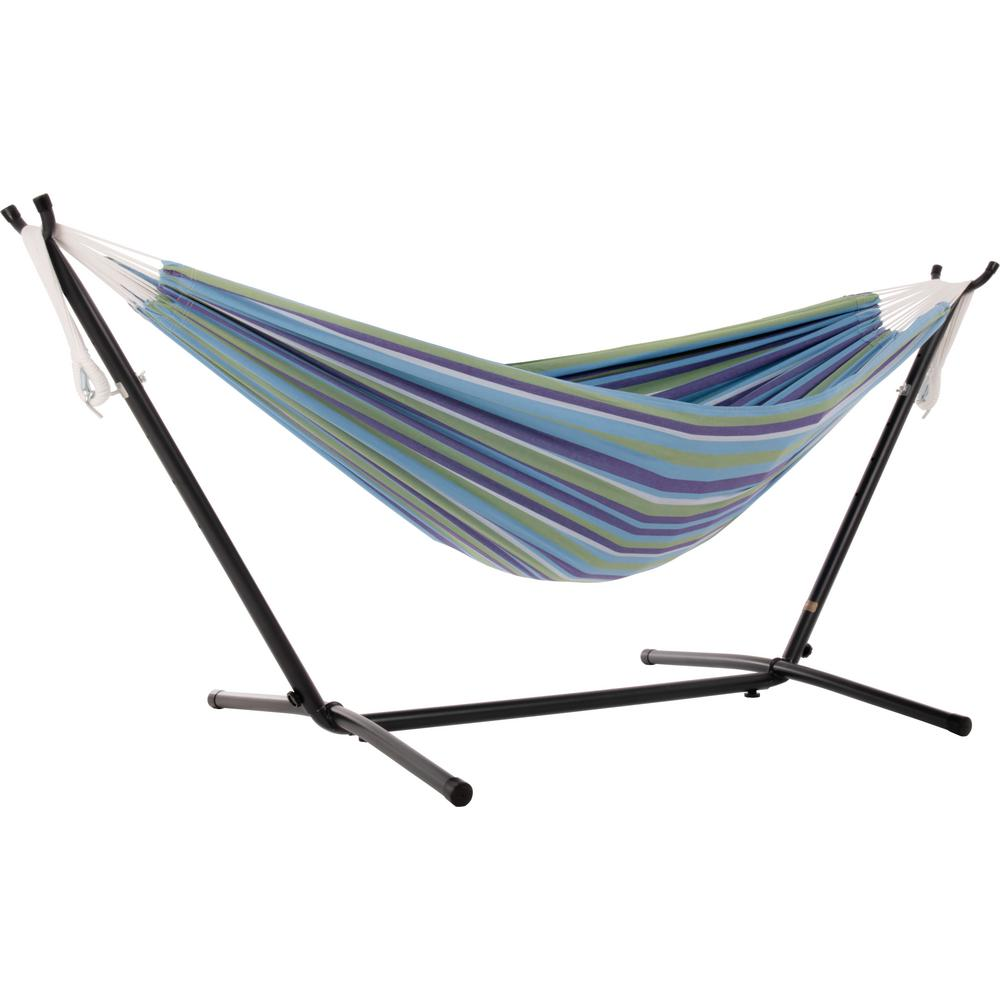 Vivere 9 Ft Portable Cotton Hammock With Stand In Maui Uhsdo9 33