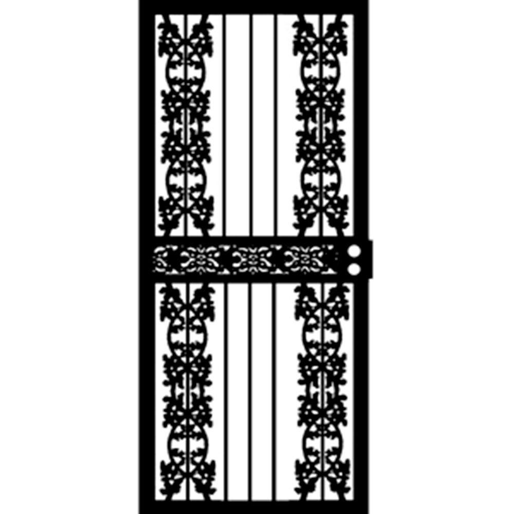 Grisham 32 in. x 80 in. 416 Series Black Montana Security Door