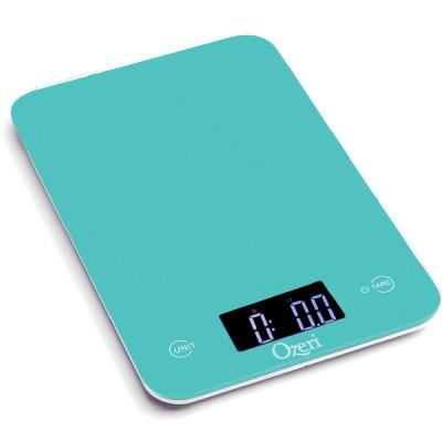 Touch Professional Digital Kitchen Scale (12 lbs. Edition), Tempered Glass in Teal