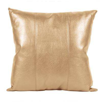Luxe Gold 20 in. x 20 in. Decorative Pillow