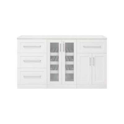 Home Bar 21 in. White Cabinet Set (4-Piece)