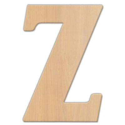 15 in. Oversized Unfinished Wood Letter (Z)