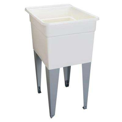 18 in. x 24 in. Plastic Utilatub Single Laundry Tub in White
