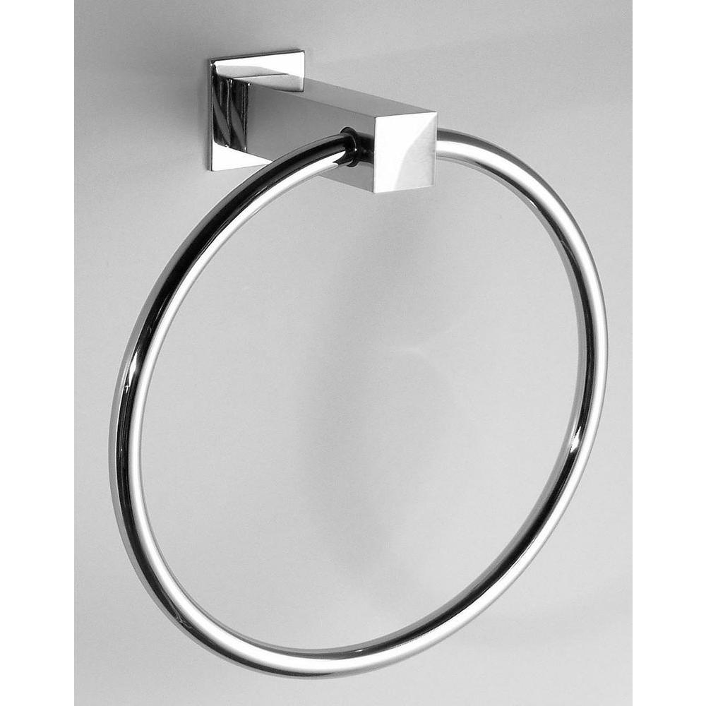 USE Square Bollard Towel Ring in Satin Nickel-DISCONTINUED
