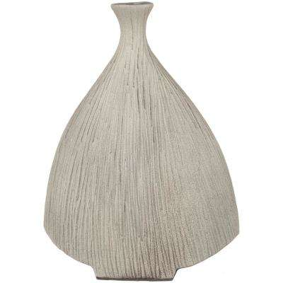 Pyrrha 16.9 in. Taupe Ceramic Decorative Vase