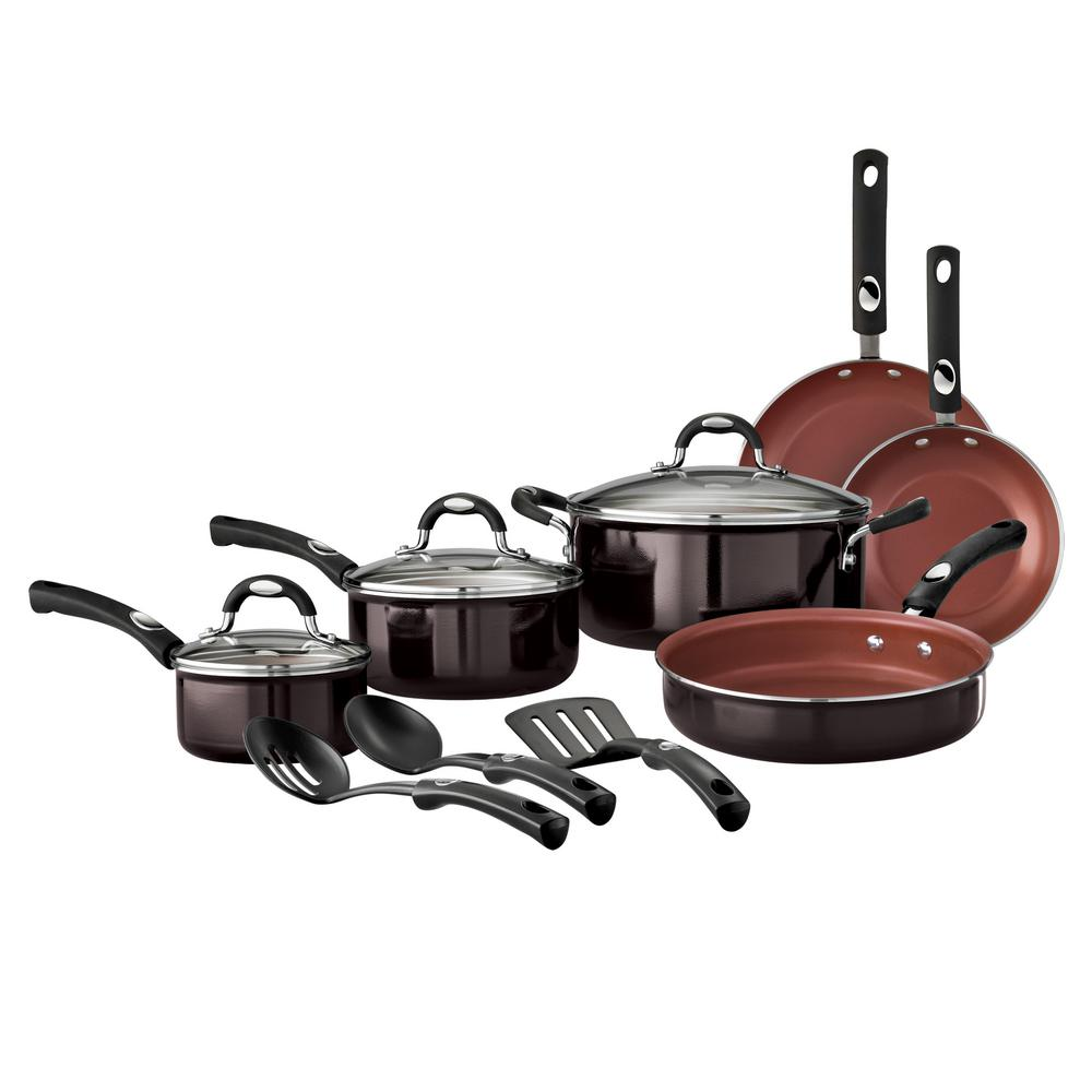 Style Black Cherry 12 Piece Cookware Set
