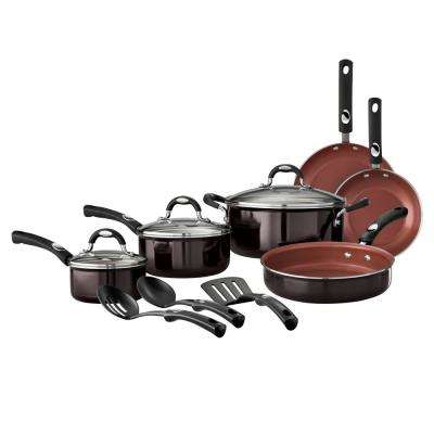 Style Black Cherry 12-Piece Cookware Set