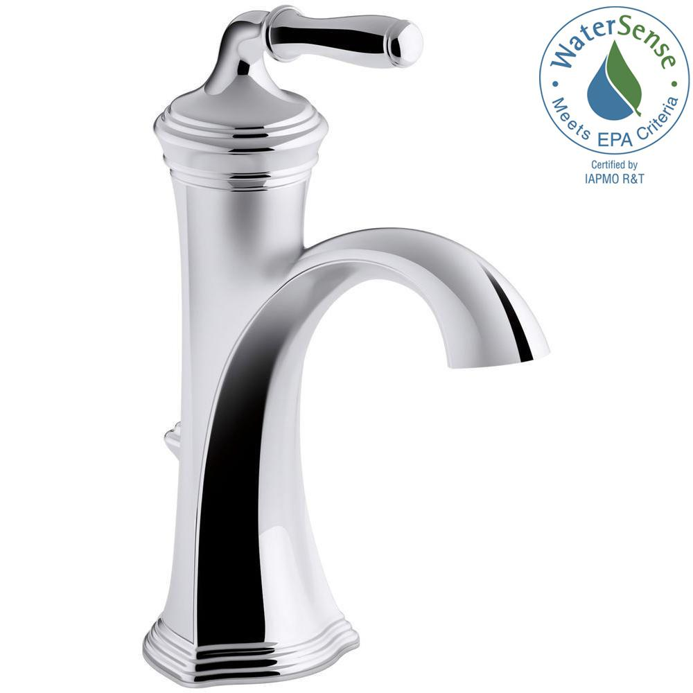 kohler single hole bathroom faucet. KOHLER Devonshire Single Hole Handle Water-Saving Bathroom Faucet In Polished Chrome Kohler O