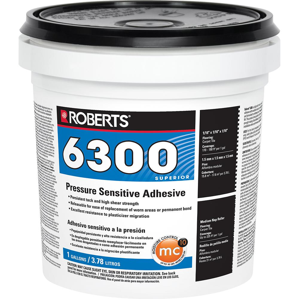 Roberts 1 Gal. Pressure Sensitive Adhesive for Carpet Tile and Luxury Vinyl Tiles