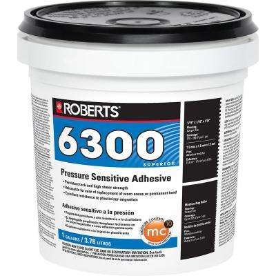 6300 1 Gal. Pressure Sensitive Adhesive for Carpet, Tile and Luxury Vinyl Tile