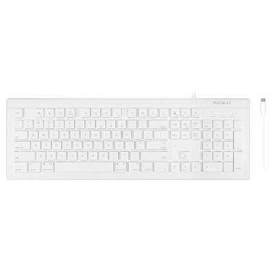 104-Key USB-C Keyboard for MacBook, Smartphone