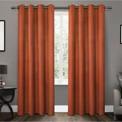 Blackout - Orange - Curtains & Drapes - Window Treatments - The Home ...