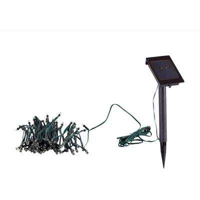 Solar Powered White LED String Light Set (100-Piece)