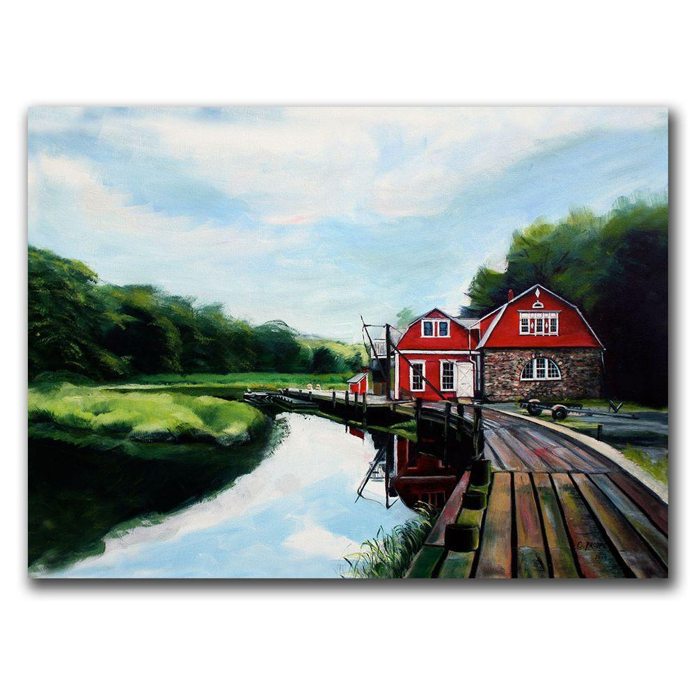 24 in. x 32 in. The Boathouse Canvas Art