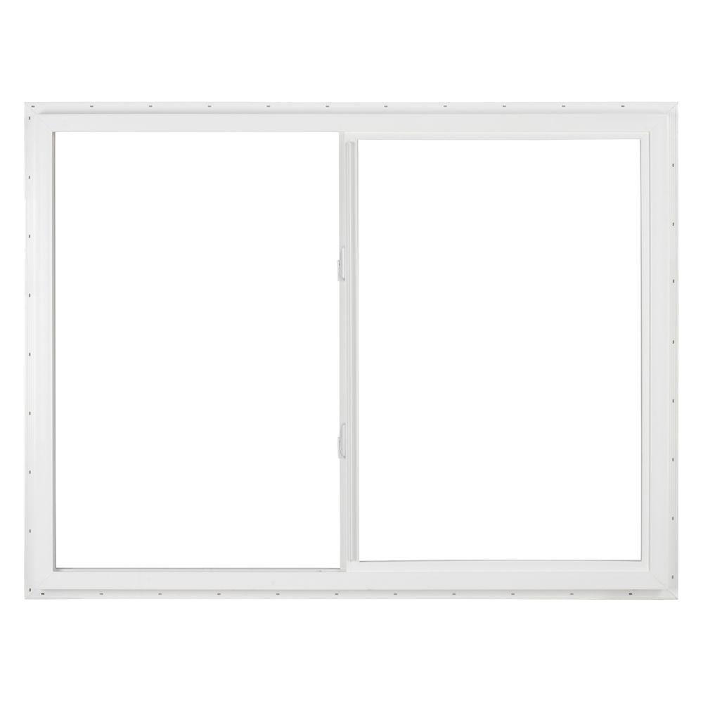 SIMONTON 48 in. x 36 in. DaylightMax Left-Hand Sliding Vinyl Window - White