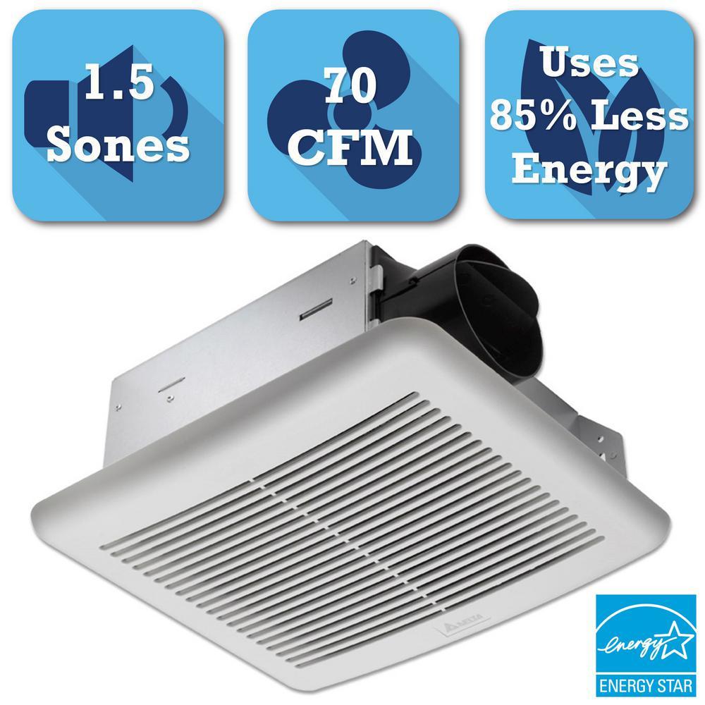 Delta Breez Slim Series 70 CFM Wall or Ceiling Exhaust Bath Fan