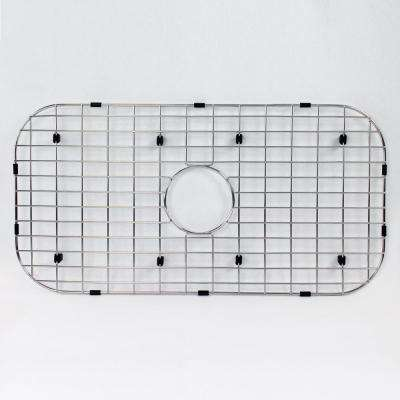 27.09 in. D x 13.89 in. W Sink Grid for Transolid MUSS32189 in Stainless Steel