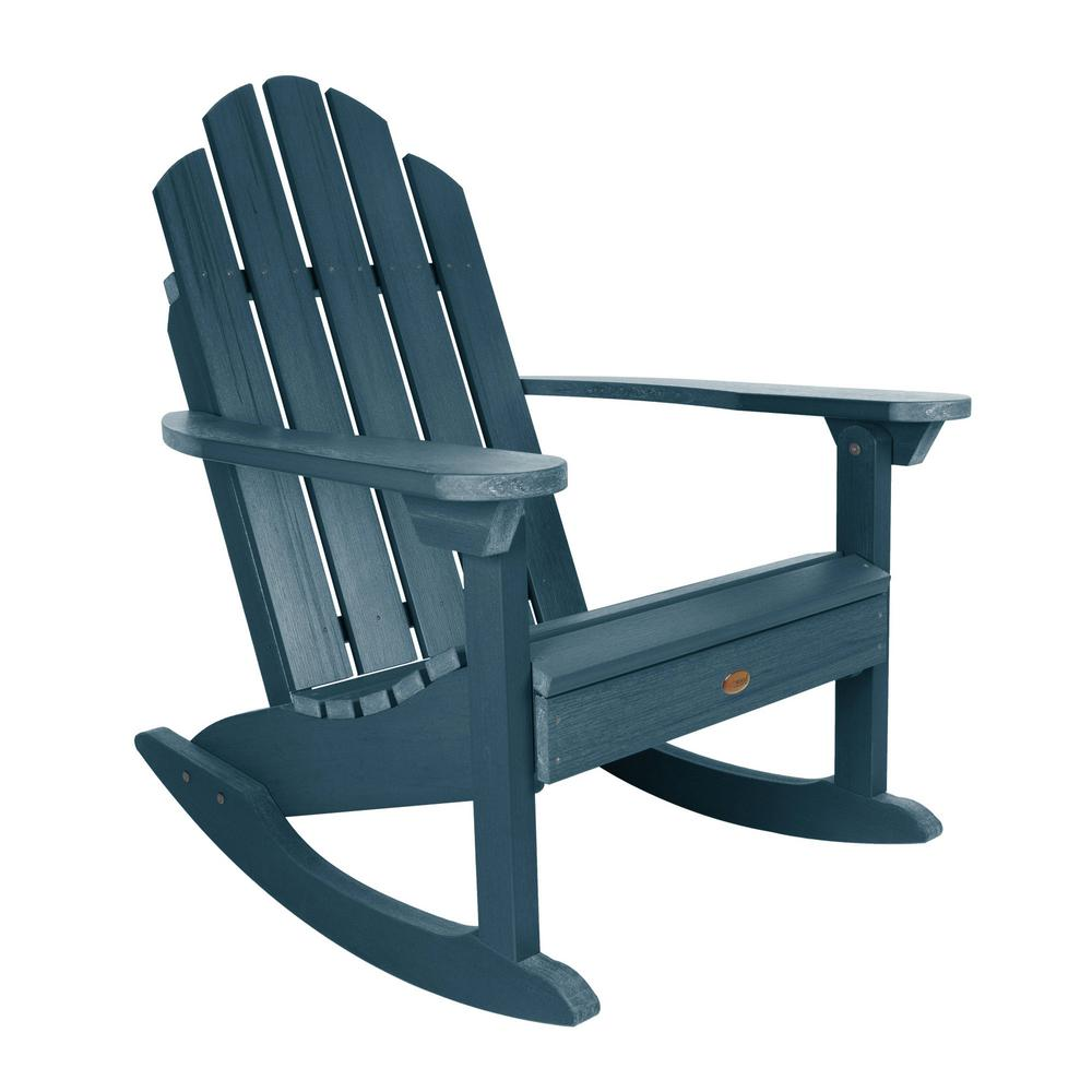 Highwood Classic Westport Nantucket Blue Recycled Plastic Outdoor Rocking Chair