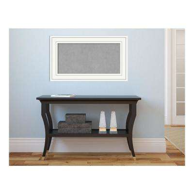 Craftsman White Wood 29 in. x 17 in. Framed Magnetic Memo Board
