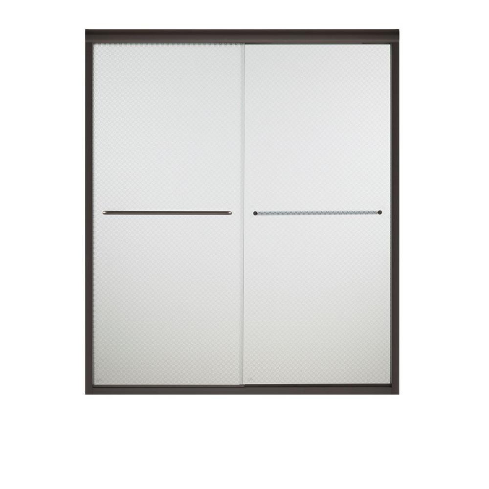 STERLING Finesse 47-5/8 in. x 70-1/16 in. Frameless Sliding Shower Door in Starscape Silver with Handle