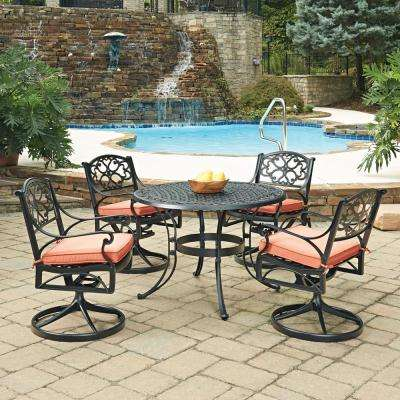 Round Red Black Patio Dining Furniture Patio Furniture The