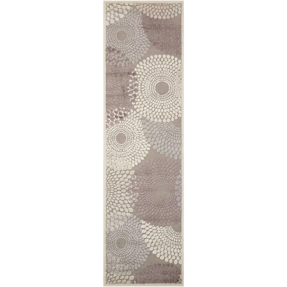 Nourison Graphic Illusions Grey 2 ft. 3 in. x 8 ft. Runner