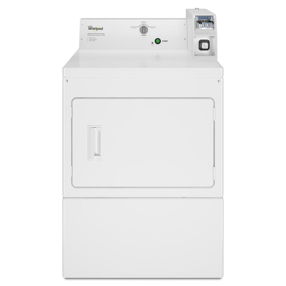 Whirlpool 7.4 cu. ft. 120-Volt White Commercial Gas Vented Dryer