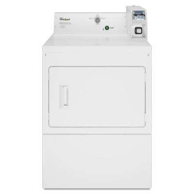 7.4 cu. ft. 120 Volt White Commercial Gas Vented Dryer