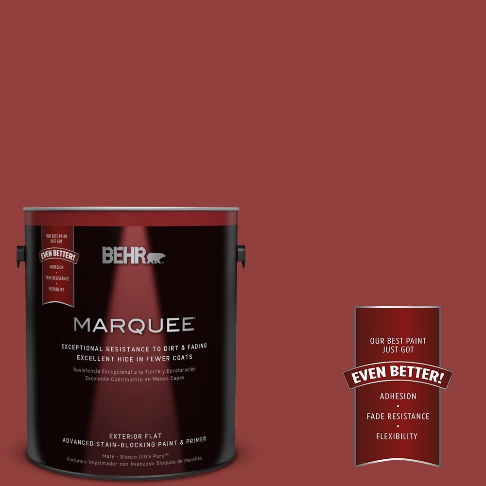 BEHR MARQUEE 1-gal. #BIC-49 Red Red Red Flat Exterior Paint