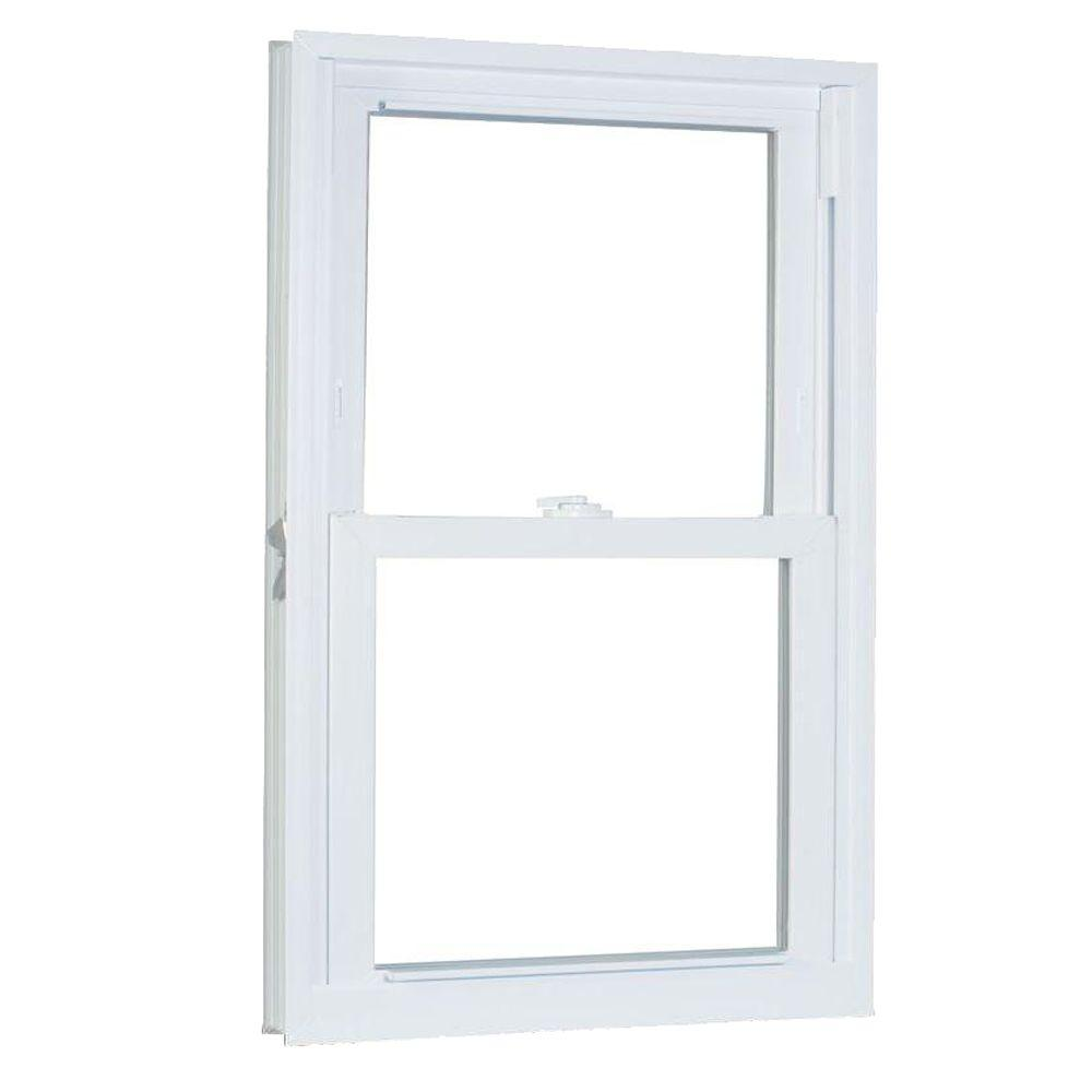 American Craftsman 33.75 in. x 61.25 in. 70 Series Double Hung Buck PRO Vinyl Window - White