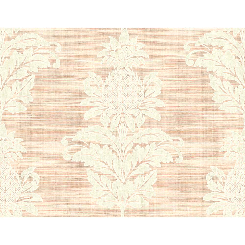 peachy garden grove home depot. Kenneth James Pineapple Grove Pink Damask Wallpaper PS40701  The